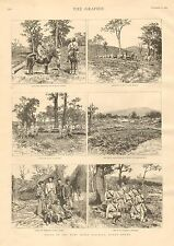 Notes In The Ruby Mines District, Upper Burma, Vintage 1887 Antique Print