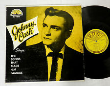 JOHNNY CASH  SONGS THAT MADE HIM FAMOUS MICROGROOVE SUN 1235 RECORD ALBUM  LP