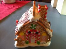 """""""PARTYLITE""""  GINGER BREAD HOUSE - Nice Detail with Ceramic Cookies & Candy"""
