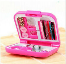 1pcs Pink Portable Travel Sewing Kits Box Color Needle Threads Sets Home Tools