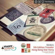 5th Edition Traveler Hong Kong Star Ferry Stickers Diary Deco 11 sheets