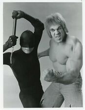LOU FERRIGNO AND THE DAREDEVIL TRIAL OF THE INCREDIBLE HULK 1989 NBC TV PHOTO