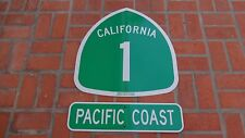 PCH AUTHENTIC PACIFIC COAST HIGHWAY California Highway HWY 1 Road Sign 24 X 24