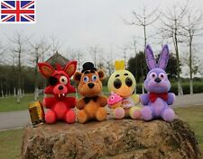 FNAF Five Nights at Freddy's Chica Bonnie Foxy Plush Doll Toy Xmas Set of 4 Gift