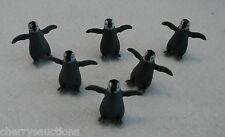 h safari GOOD LUCK MINI BABY PENGUIN lot 6 tiny miniature craft diorama animal