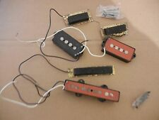 RARE VINTAGE 80s FENDER JV RED BOBBIN JAZZ & PRECISION POWER BASS P/UPS