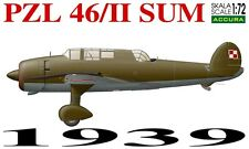 PZL 46 SUM BOMBER - SEPTEMBER 1939 (POLISH AF MARKINGS) 1/72 ACCURA RESIN