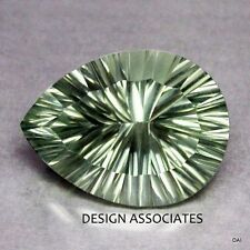 GREEN AMETHYST 13X9 MM PEAR CONCAVE CUT  AAA  ALL NATURAL