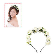 Rose Flower Crown Festival Headband Wedding Garland Floral Hairband