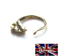 Vintage Style Mouse/Rat finger wrap ring. Antique Gold Finish. Adjustable. UK.