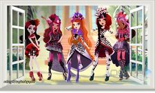 Ever After High 3D Window View Removable Wall Decals Girls Stickers Art Mural