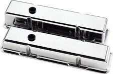 BILLET SPECIALTIES POLISHED ALUMINUM SBC TALL VALVE COVERS,SMALL BLOCK CHEVY