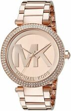 NEW Michael Kors MK5865 Rose Gold Tone Parker Stainless Steel Ladies Watch