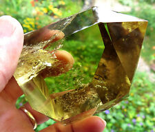 Bright, Polished Citrine. A Natural stone with no treatment. Perfect tip.