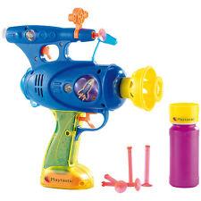 Playtastic 3in1-Spielzeugpistole: Schießt Seifenblasen, Wasser & Gummipfeile