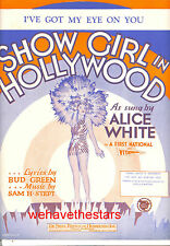 "SHOW GIRL IN HOLLYWOOD Sheet Music ""I've Got My Eye On You"" Alice White"