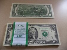 NEW Uncirculated $2 Dollar STAR Bill Note Lucky Sequential Denomination US USD *