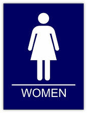 Donne bagno Women Bathroom Frauen Badezimmer etichetta sticker 11cm x 14cm