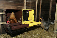 2 x POULTRY NEST BOXES (TOP DESIGN WITH ROLL AWAY TRAY)
