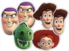 Toy Story Variety Six(6) Pack Fun Disney CARD Party Face Masks with Buzz & Woody