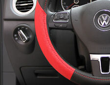 "Black & Red PVC Leather Steering Wheel Cover Toyota Corolla Camry Tacoma 14""-15"""