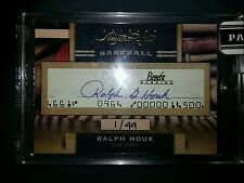 2011 Panini Donruss Limited Cuts Baseball Ralph Houk auto serial #d 1/49