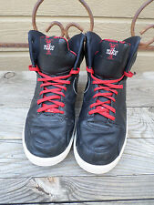 Nike RT1 High Black/Red Leather Shoes  354034-001 Men's 8