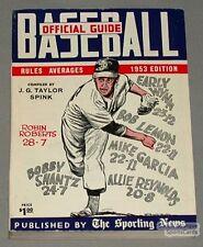 Rare 1953 The Sporting News Baseball Guide