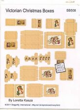 Kit - Victorian Christmas Boxes Sheet  SB508 dollhouse Dragonfly 1/12 scale wood