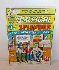 AMERICAN SPLENDOR #1 BY R. CRUMB HARVEY PEKAR 1976