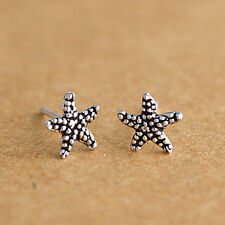 925 Sterling Silver Starfish Stud Earrings Star Fish Sea Life Women girl Jewelry