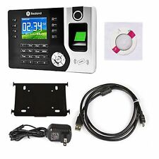 Biometric Fingerprint Time Clock Attendance ID Card TCP IP USB Employee Recorder