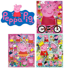 Peppa Pig Stickers Set 3 Sheets Vinyl Plastic Decal individually Laser cut image