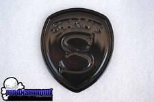 """RARE STRUT FENDER FRONT REAR EMBLEM BADGE GLOSS BLACK 3 5/8"""" RANGE ROVER BMW"""