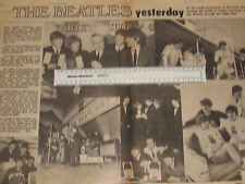 NEW MUSICAL EXPRESS THE BEATLES 10TH ANNIVERSARY CENTRE PAGES ARTICLE 1972 NME