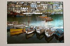 VINTAGE DUFEX FOIL ART PRINT  Harbor Scene with boats Made in ENGLAND NO FRAME