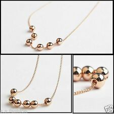 Elegant Gold Color Finish Chain Acrylic Moving beads necklace fashion jewelry
