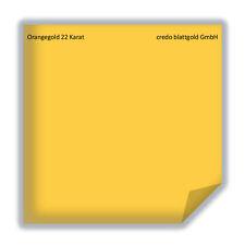 Orangegold 22 Karat Blattgold  transfer - 25 Blatt neu