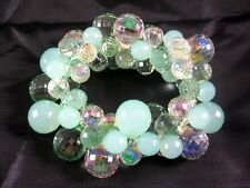 Fabulous New Seafoam Green Colored Bubble Statement Bracelet #B1384