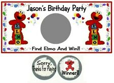 10 Elmo Birthday Party Baby Shower Scratch Off Game Cards Favors Lottery Tickets