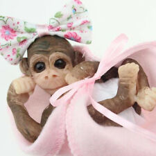 5'' Mini  Life like Reborn Monkey Orangutan Baby Doll Resin Newborn For Gift NEW
