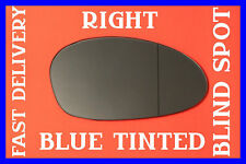 BMW Z4 2002-2008 DOOR WING MIRROR GLASS BLIND SPOT BLUE RIGHT