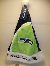 NEW Seattle Seahawks Forever XMAS SANTA HAT Adult sz NFL tailgate Party 12th MAN