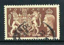 GB KGVI 1951 £1 Royal Coat of Arms SG 512 used