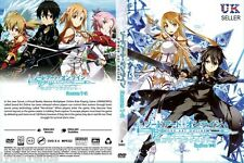 Anime Sword Art Online Complete Season 1 & 2 ENGLISH DVD Box Set - UK DISPATCH