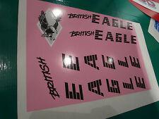 British Eagle Decalcomania Set per il 1980's Frame. fresche opera d'arte da Originals