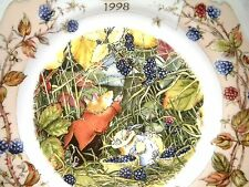 "ROYAL DOULTON BRAMBLY HEDGE 8"" PLATE 1998 ANNUAL"