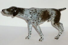 Alte Rosenthal Porzellanfigur Pointer Jagdhund Figur Hund 29cm Vorstehhund Jäger