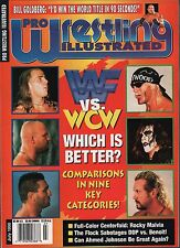 Pro Wrestling Illustrated July 1998 WWF Vs. WCW  Which is better? EX 011916DBE