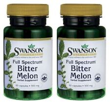 BITTER MELON BLOOD SUGAR GLUCOSE HERBAL SUPPLEMENT 120 CAPSULE 500mg SWANSON